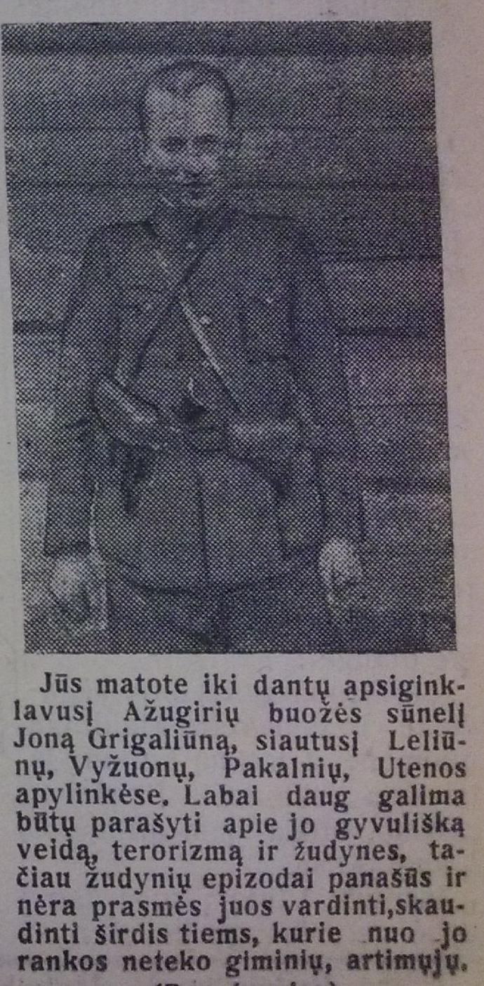 """Jonas Grigaliūnas, 1960 m. """"Lenino keliu"""""""