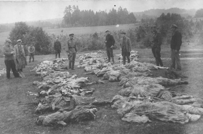 Utena_1944_ypatingoji_komisija_-_Rašės_žydų_kapavietė
